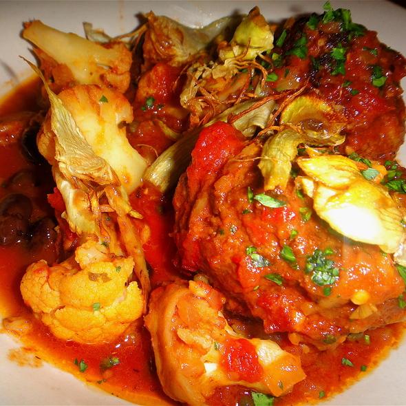 Meatballs w/Cauliflower & Fried Artichokes @ Bar Agricole