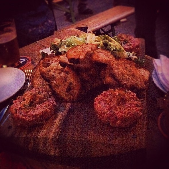 The amazing steak tartare at the @cannibalnyc @ The Cannibal Beer & Butcher