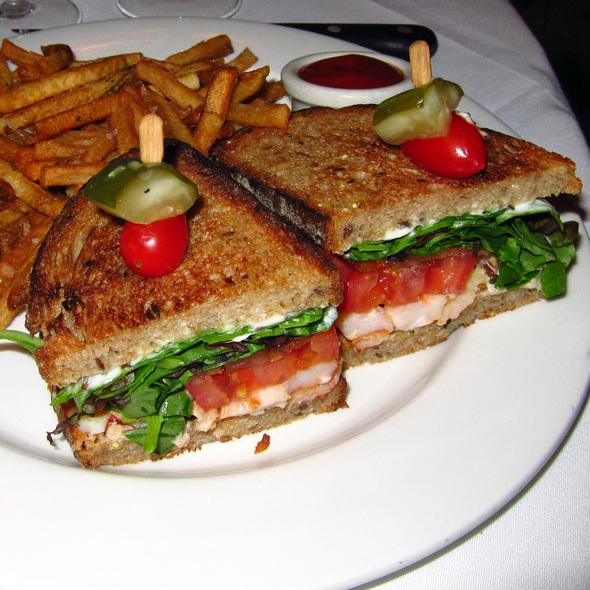 Lobster club sandwich at RL Restaurant (Ralph Lauren) in Chicago, IL
