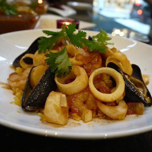 Seafood Saffron Valencia Paella - at Vermilion, New York, NY