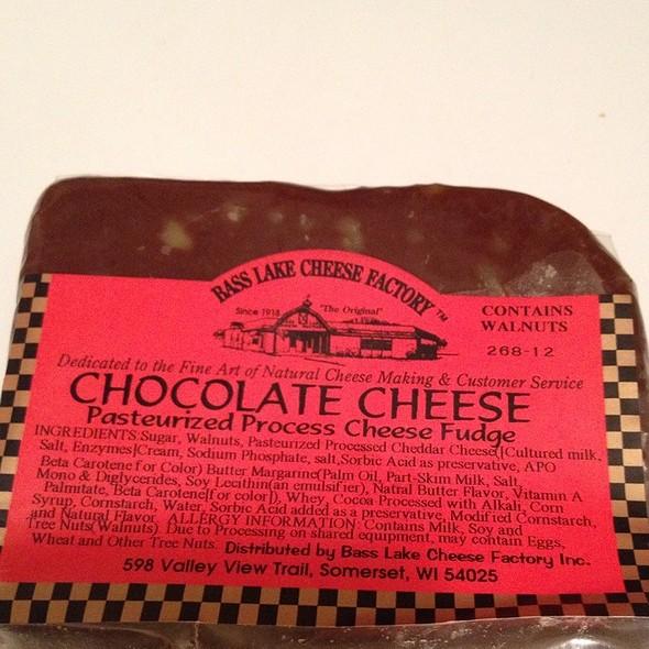 Chocolate Cheese @ Bass Lake Cheese Factory