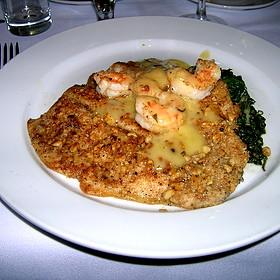 Veal Bavette With Shrimp