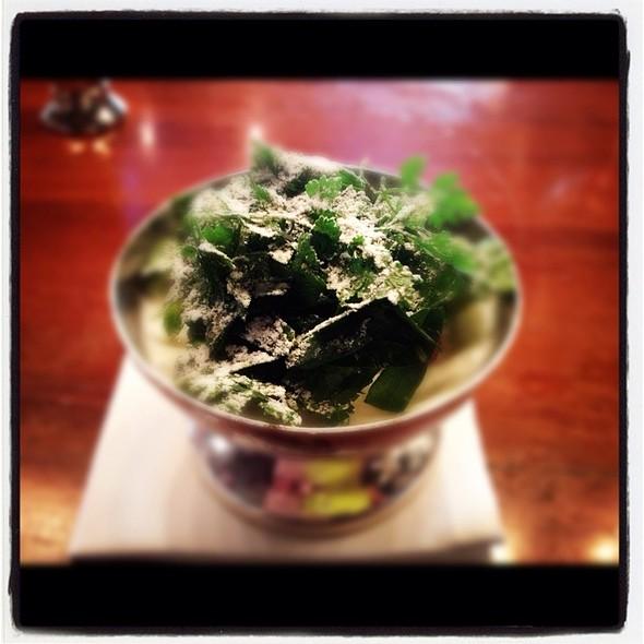 Butter Milk Ice Cream, Salad, Brown Butter @ La Scala @ Sukhothai Hotel