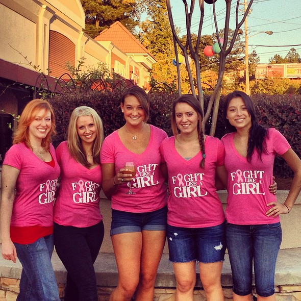 breast cancer awareness team @ Red Pepper Taqueria