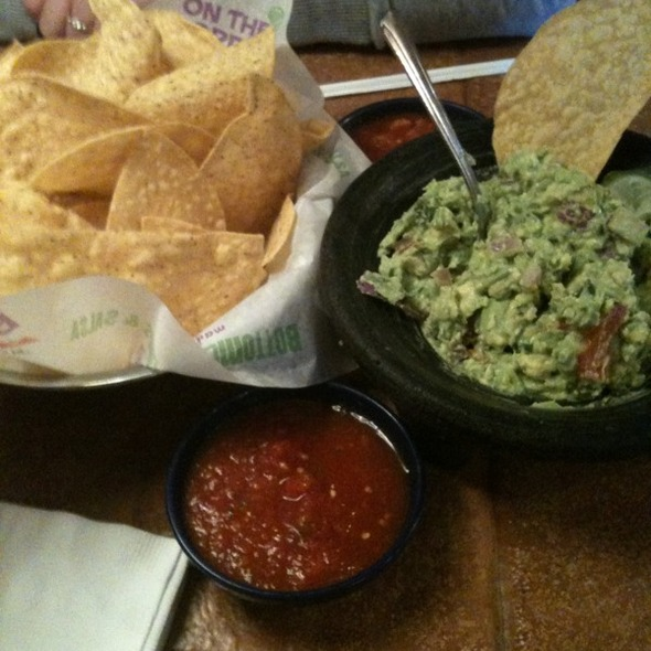Guacamole and Chips @ On the Border Mexican Grill & Cantina