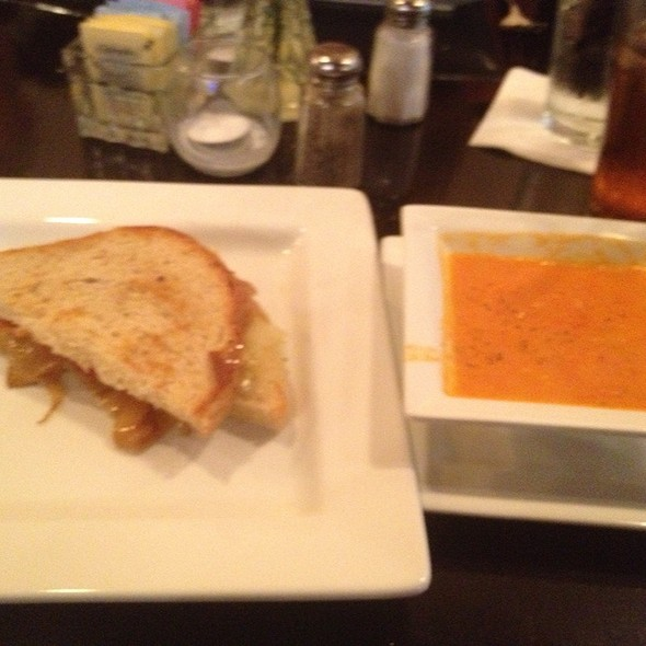 Tomato Bisque And Grilled Cheese @ The Grand Cafe