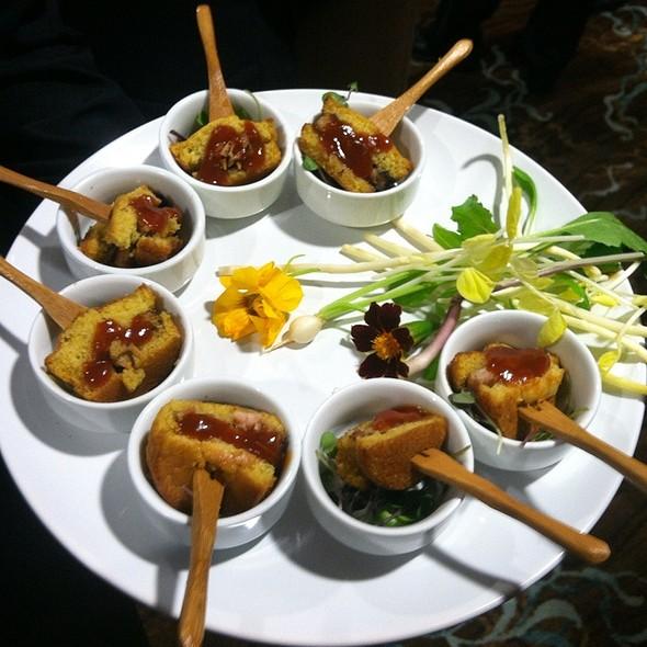 Apple Braised Niman Ranch Pork Belly Slider On Corn Bread @ One Ocean Resort