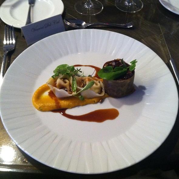 Beef Short Rib, Black Kale, Smoked Pepitas, Squash Tortellini @ One Ocean Resort