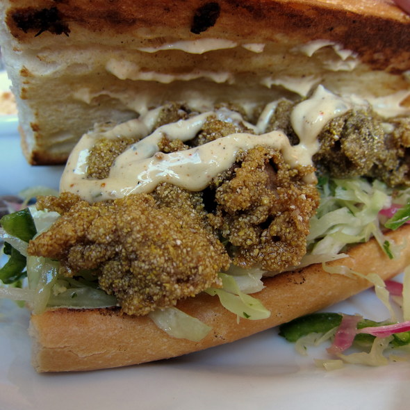 Fried Oyster Sandwich @ Brown Sugar Kitchen