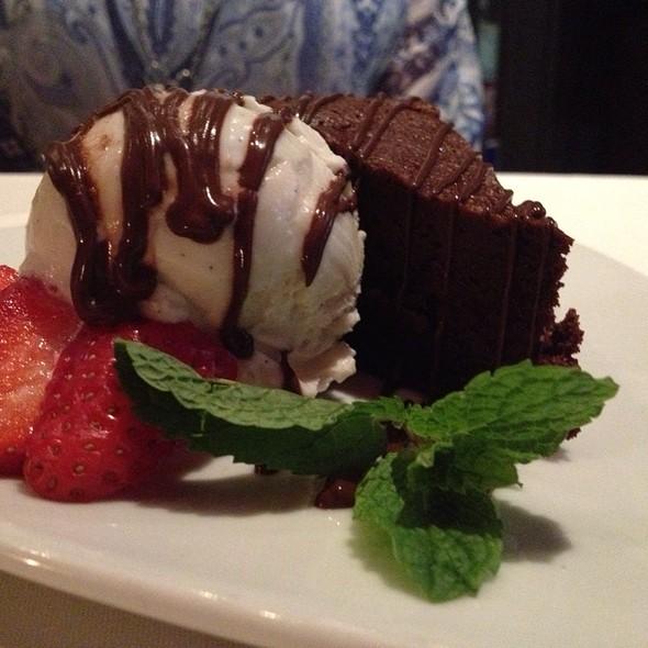 flourless chocolate cake - Piccolo Paradiso, Beverly Hills, CA