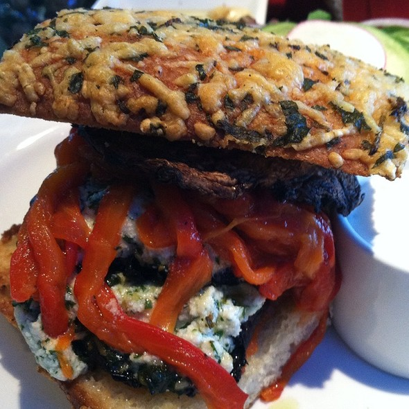 Portobello Mushroom Lasagna Sandwich @ Red Mountain   bistro