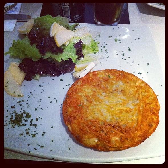 Batata Rosti recheada, muito bom @paladaramesa