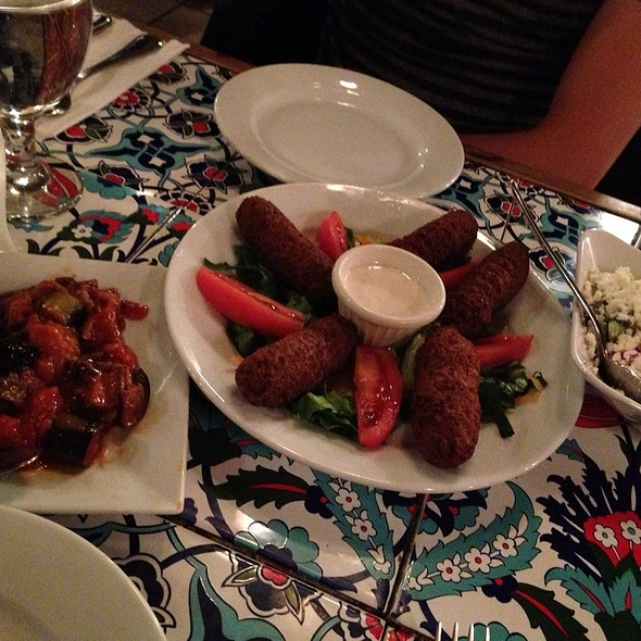 Felafel, Eggplant With Tomato And Turkish Salad @ A B A | RESTAURANT