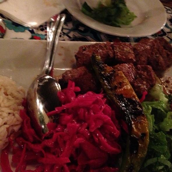 Lamb Shish Kebab @ A B A   RESTAURANT