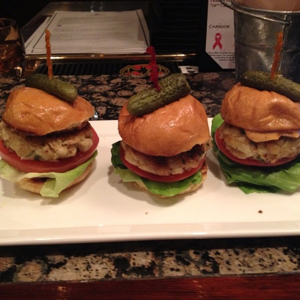 Crab Cake Sliders - Explorers - Royal Sonesta Harbor Court Baltimore, Baltimore, MD
