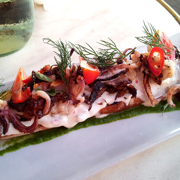 Calamary brusketa @ tapas at the market