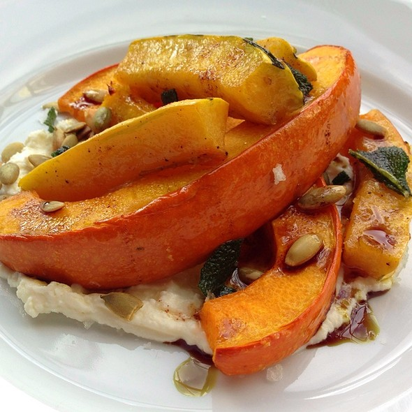 Roasted Butternut Squash with Ricotta & Pine Nuts @ Sitka & Spruce