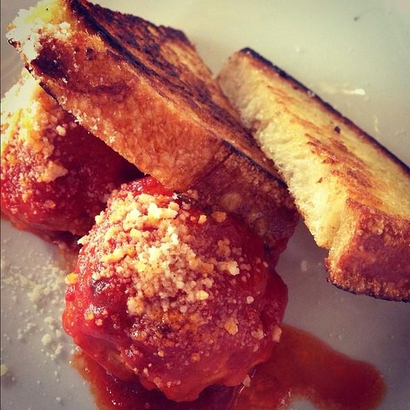 Pork And Chicken Meatballs @ Pizzeria Ortica