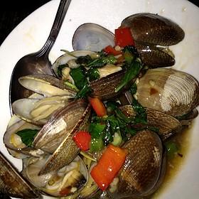 Thai Basil and Chili Clams