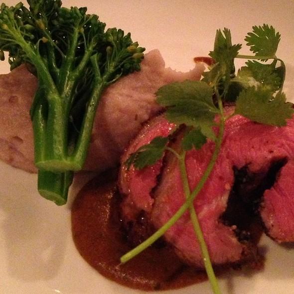 Spiced Rubbed Roast Leg Of Lamb With Purple Potato Mash And Cashew  And Cilantro Mole - Alloy, Calgary, AB