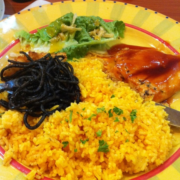 Chicken Breast With Java Rice And Pasta Negra @ Sm Mall Of Asia