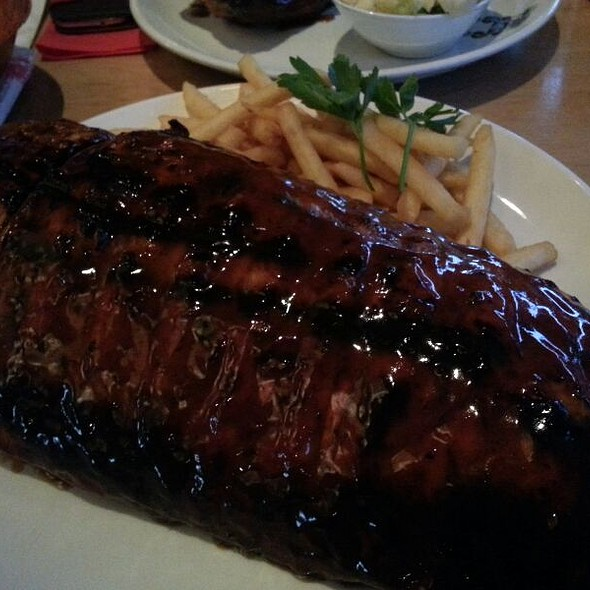 Full Rack Of Pork Ribs At And Rumps Sydney Olympic Park