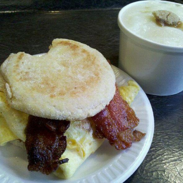 Breakfast Sandwich @ Chez 92nd Cafe