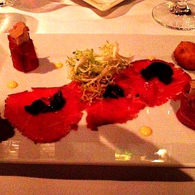 Beef Carpaccio And Truffle Chicken Terrine - White Barn Inn, Kennebunk, ME