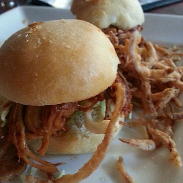 BBQ Pork Sliders - Gordon Biersch Brewery Restaurant - Park Lane, Dallas, TX