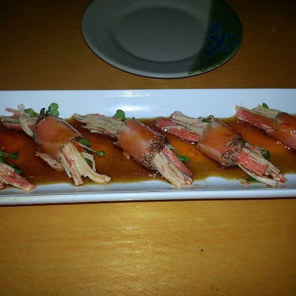 salmon carpaccio @ Oyama Sushi