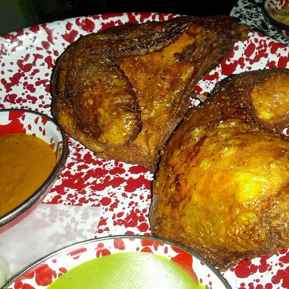 The famous Cracklin Beer Can Chicken. NO WORDS. @ A-Frame