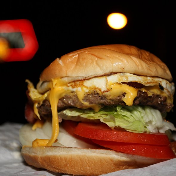 Bacon Cheeseburger with Fried Egg @ Nation's Giant Hamburgers