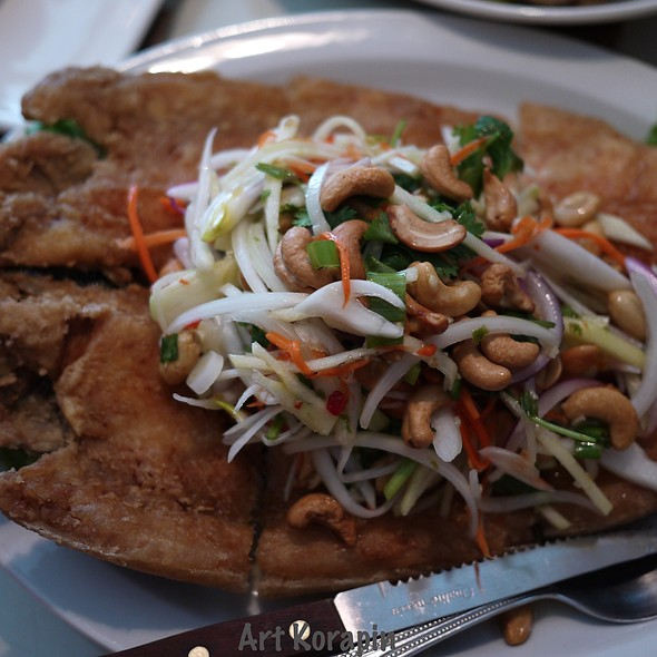 Deep Fried Sea Bass With Mango Salad