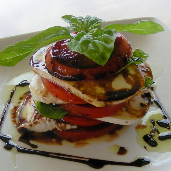 Banjy's fresh mozzarella and local tomato stack @ Banjy's Paradise Bar & Grill
