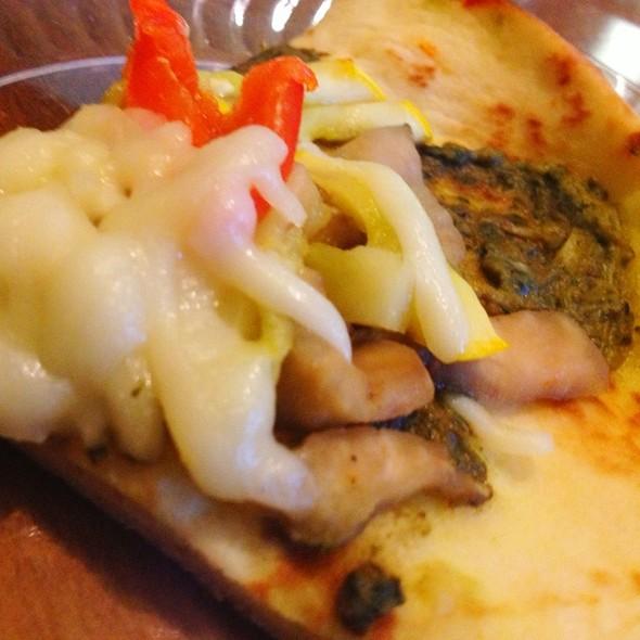 Pesto Veggie Pizza @ Chambers 19 Cafe at CBFYMCA