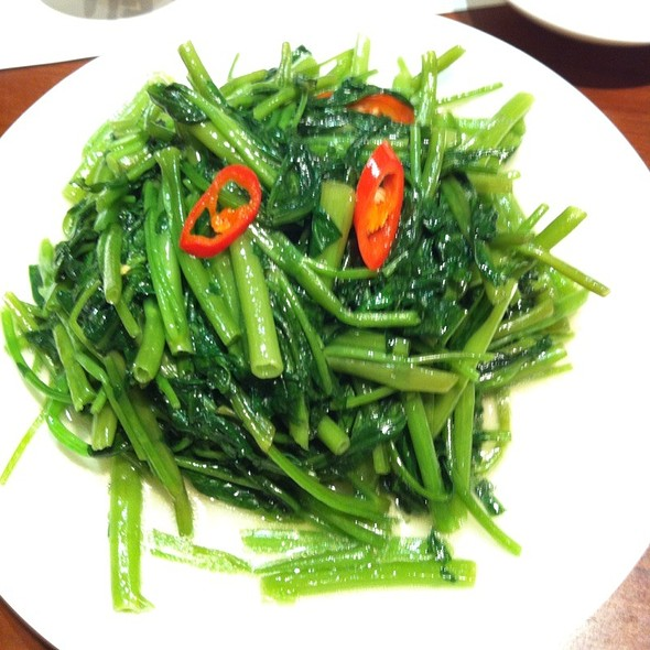Water Spinach With Garlic @ Din Tai Fung