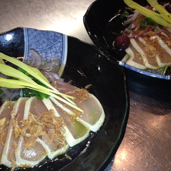 梶木鮪の炙り刺身 土佐酢添え- Seared Albacore Sashimi With Tosa Vinegar - Onyx - Four Seasons Westlake Village, Westlake Village, CA