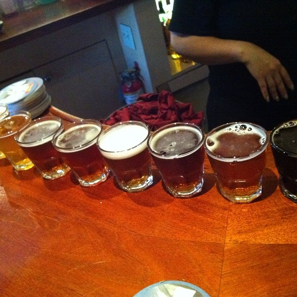 Beer Sampler - Peter B's Brewpub, Monterey, CA