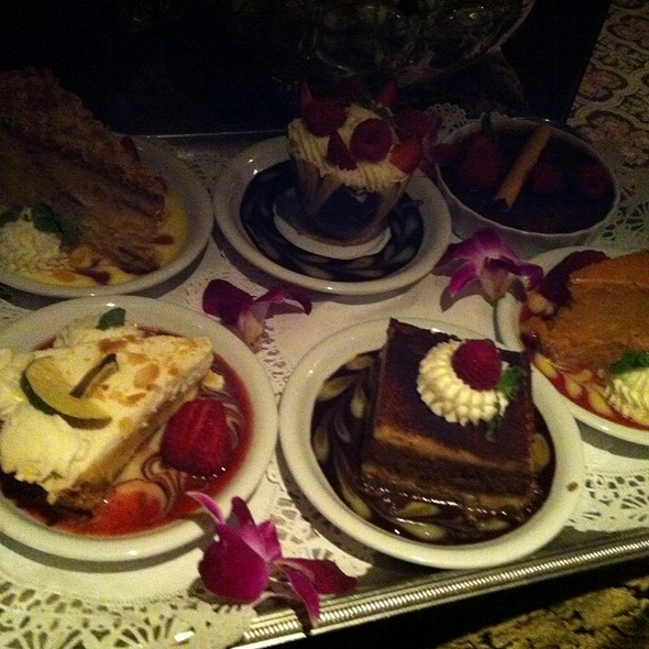 Dessert tray - Old Fisherman's Grotto, Monterey, CA
