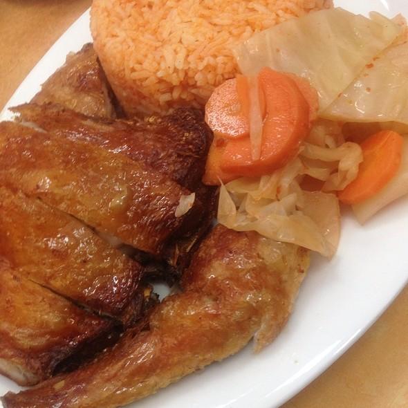 Crispy Skin Chicken With Tomato Rice
