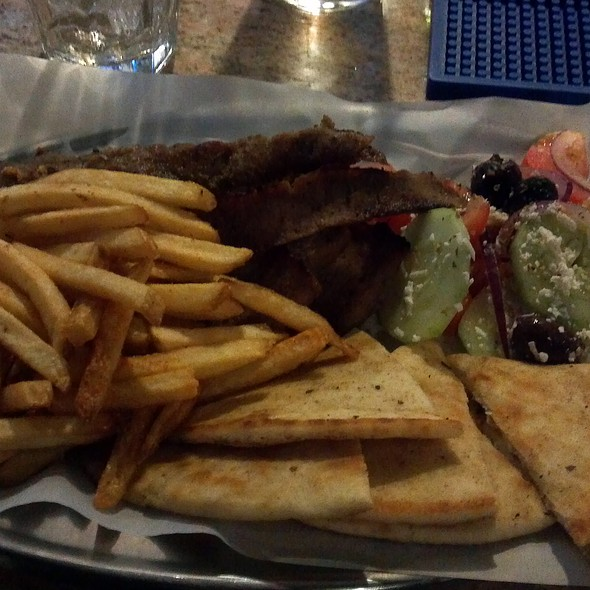 Gyros with fries and Tsatziki @ Agora