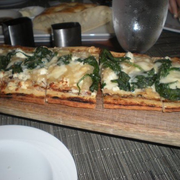 White Flatbread Pizza - Zephyr on the Charles, Cambridge, MA