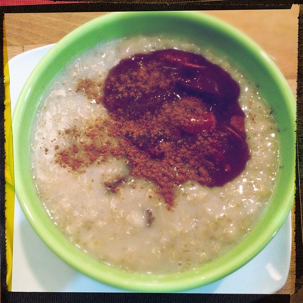 Power Breakfast Porridge W/ Quinoa And Plum Compote @ Goodies Berlin