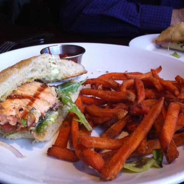 Salmon Sandwich @ Old Fisherman's Grotto
