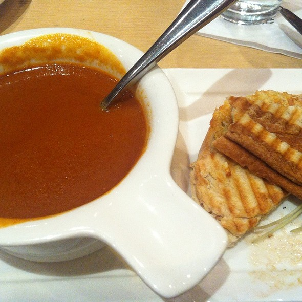 Old Fashioned Grilled Cheese & Alphabet Tomato Soup