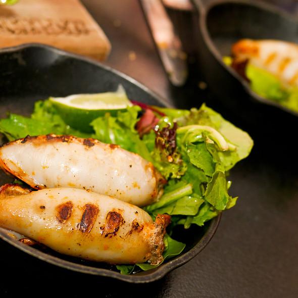 Grilled Calamari with Merguez - Confusion Tapas du Monde, Montréal, QC