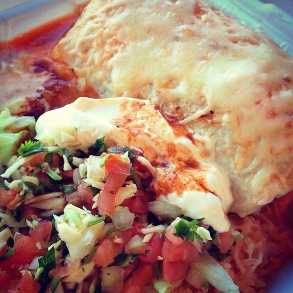 Burrito Especial With Pork @ La Vaca Mexican Restaurant