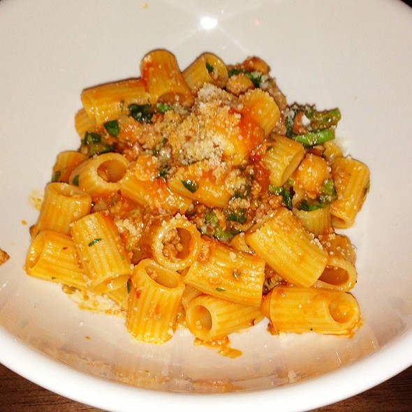 Rigatoni With Broccoli Rabe, Sausage And Chick Peas at The Library at ...