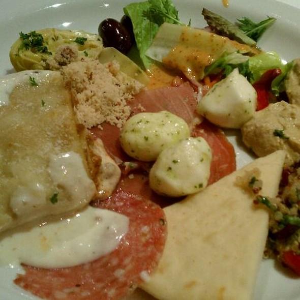 Salad Bar Plate With Cured Meats, Olives, Fresh Mozzarella & Grilled Veggies. - Espetus Churrascaria - San Francisco, San Francisco