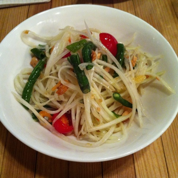 Green Papaya Salad @ Pure Thai Cookhouse